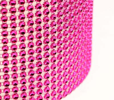 Hot Pink Glam Ribbon - Cake Wrap<br><br>