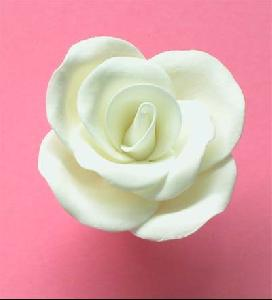 Single medium sugar rose Mixture of White and Ivory 4cm