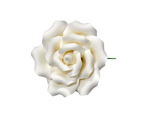 Edible Sugar Flowers 8.5cm Medium Damask Red Rose